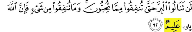 99 Names of Allah - Al-Alim - of a truth Allah knoweth it well. Surah Ali 'Imran verse 92
